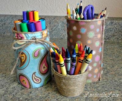 Стаканчик для карандашей своими руками фото