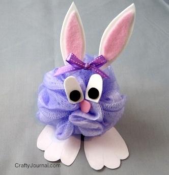 заяц из мочалки