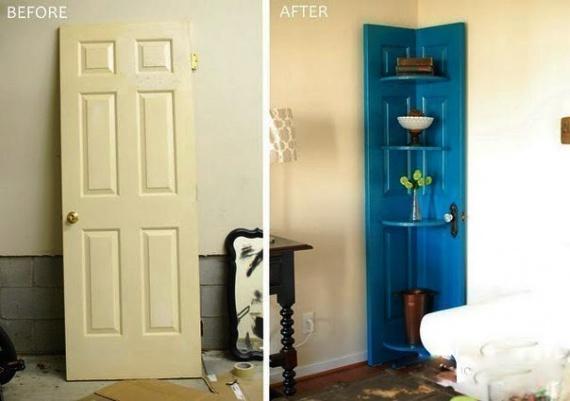 старая дверь в декоре