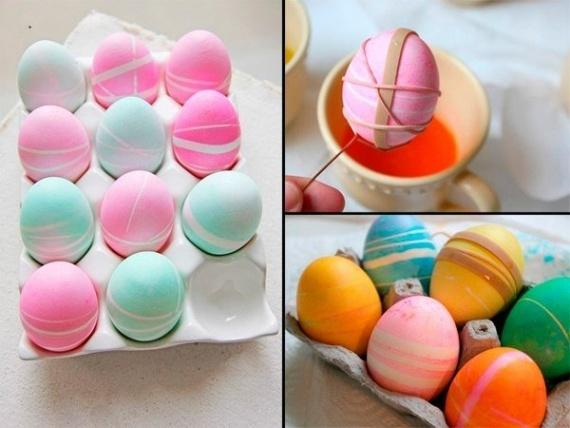 Оригинальный способ украсить яйца к Пасхе