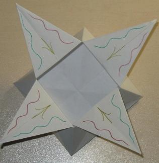коробка бумажная оригами