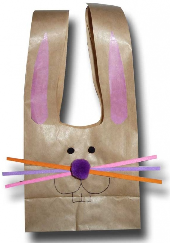 заяц из бумажного пакета